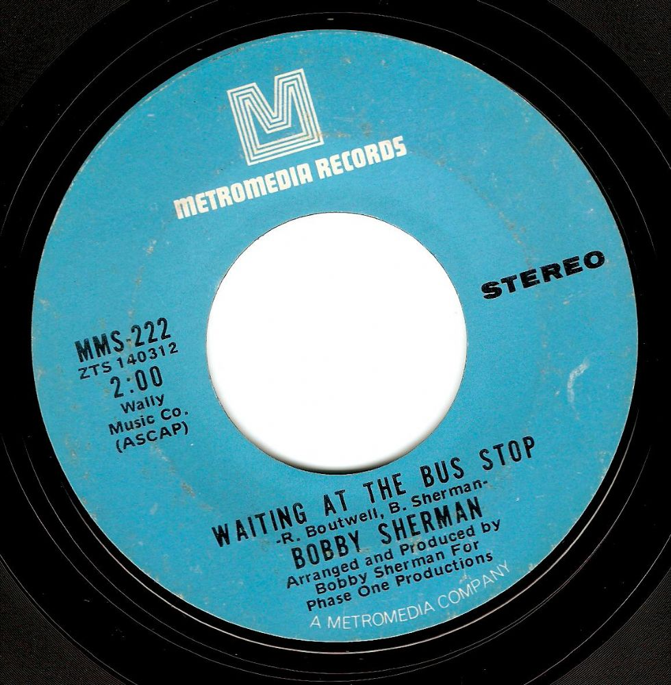 BOBBY SHERMAN Waiting At The Bus Stop Vinyl Record 7 Inch US Metromedia 1971